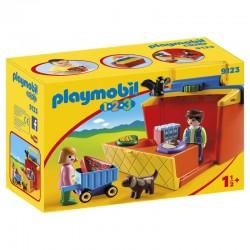 Playmobil 1.2.3 / 9123 Mon Étal Du Marchand A Emporter licence officielle idée cadeau anniversaire noël neuf