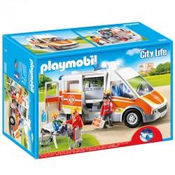 PLAYMOBIL 6685 - City Life - Ambulance avec Gyrophare et Sirène licence officielle idée cadeau anniversaire noël neuf