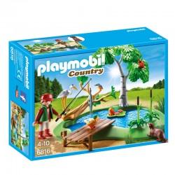 Playmobil 6816 Lot avec pêcheur et animaux licence officielle idée cadeau anniversaire noël neuf