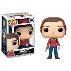 POP 514 figurine Marvel Stranger Things Nancy avec Gun fermée licence officielle Funko idée cadeau anniversaire noël neuf