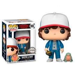 POP 593 figurine Stranger Things Dustin with Baby Dart Exclusive licence Funko idée cadeau anniversaire noël neuf