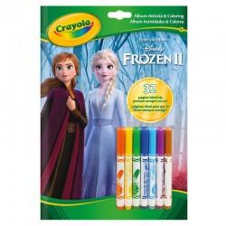 Livre d'activités 32 pages Disney Frozen 2 reine des neiges Crayola idée cadeau anniversaire noel neuve