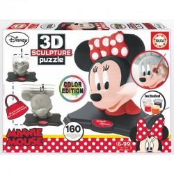 Puzzle 3D Disney Minnie Color Edition licence officielle Disney marque EDUCA idée cadeau anniversaire noël neuve