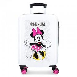 Valise trolley rigide 55 cm blanche Minnie enfant licence officielle Disney voyage sortie vacances neuve