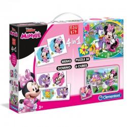 Coffret jeux éducatif 4 en 1 Minnie licence officielle Disney idée cadeau anniversaire noël neuve