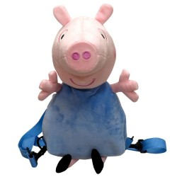 Sac à dos en peluche 3D Peppa Pig George licence officielle maternelle sortie neuf