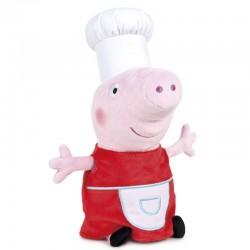 Peluche Peppa Pig cuisinière 45cm marque PLAY BY PLAY idée cadeau anniversaire noël neuve