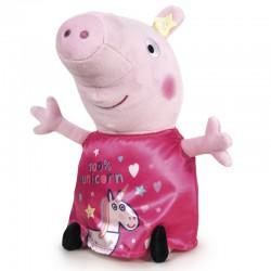 Peluche Peppa Pig robe licorne rose 45cm marque PLAY BY PLAY idée cadeau anniversaire noël neuve