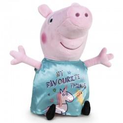 Peluche Peppa Pig robe licorne bleue 45cm marque PLAY BY PLAY idée cadeau anniversaire noël neuve