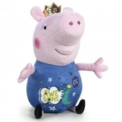 Grande Peluche Peppa Pig George roi 72 cm marque PLAY BY PLAY idée cadeau anniversaire noël neuve