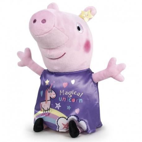 Grande Peluche Peppa Pig robe licorne violette 72 cm licence officielle idée cadeau anniversaire noël neuve