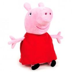 Peluche Peppa Pig robe rouge 24 cm marque PLAY BY PLAY idée cadeau anniversaire noël neuve