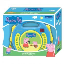 Lecteur CD karaoké avec microphones Peppa Pig licence officielle Lexibook idée cadeau anniversaire noël neuve
