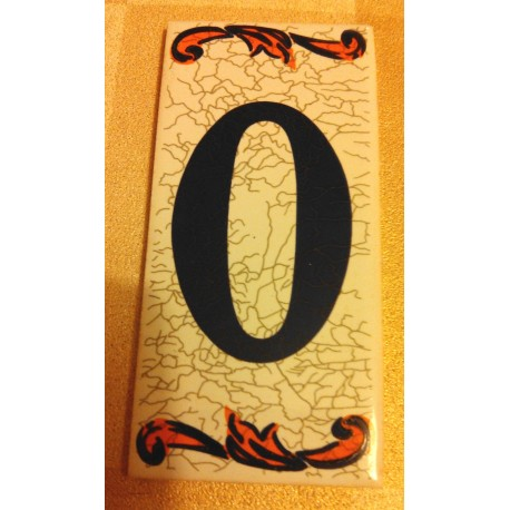 Faience de portes d'entrée numéro 0 en céramique a coller neuve