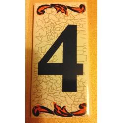 Faience de portes d'entrée numéro 4 en céramique a coller neuve