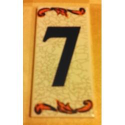 Faience de portes d'entrée numéro 7 en céramique a coller neuve