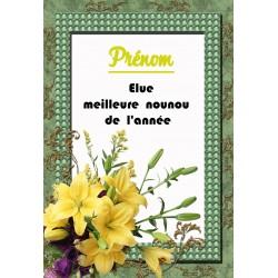 Elue meilleure NOUNOU de l'année prénom au choix orchidées sur faience idée cadeau anniversaire fête noel neuve emballée