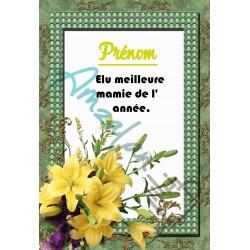 Elue meilleure MAMIE avec prénom au choix orchidées sur faience idée cadeau anniversaire fête des grand mères noel neuve