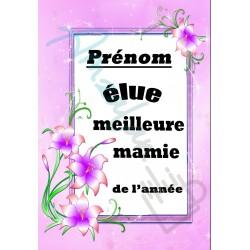 Elue meilleure MAMIE floral prénom au choix sur faience idée cadeau anniversaire fete grand mères noel neuve emballée