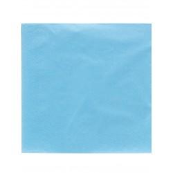 Lot de 50 Serviettes en papier bleu ciel 38 x 38 cm anniversaire mariage baptême retraite neuve