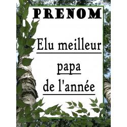 ELU MEILLEUR PAPA DE L'ANNEE PLAQUE DECORATIVE SUR FAIENCE IDEE CADEAU ANNIVERSAIRE FETE DES PERES NOEL NEUF
