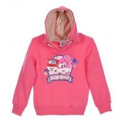 Sweatshirt a capuche Super Wings fille Rose du 3 ans au 6 ANS idée cadeau anniversaire neuf