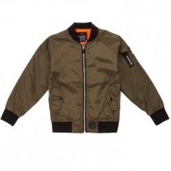 Blouson veste manteau garcon style bombers KAKI du 4 ans au 14 ANS vêtement mi saison très léger neuf