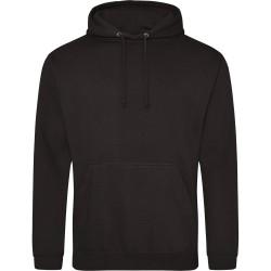 Sweatshirt à capuche contrasté mixte qualité marque AWDIS Noir DU S A XXL idée cadeau neuf