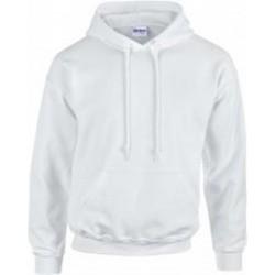 SWEATSHIRT A CAPUCHE enfant mixte MARQUE GILDAN blanc du 5/6 au 12/14 ans vêtement qualité supérieur neuf