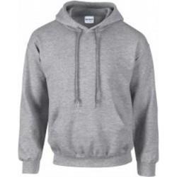 SWEATSHIRT A CAPUCHE enfant mixte MARQUE GILDAN gris du 5/6 au 12/14 ans vêtement qualité supérieur neuf