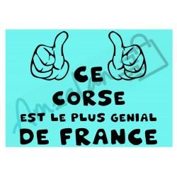 Ce Corse est le + génial de France fond bleu homme plastifié idée cadeau anniversaire fête noel neuve emballée