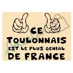 Ce Toulonnais est le + génial de France fond beige homme plastifié idée cadeau anniversaire fête noel neuve emballée