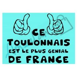Ce Toulonnais est le + génial de France fond bleu homme plastifié idée cadeau anniversaire fête noel neuve emballée