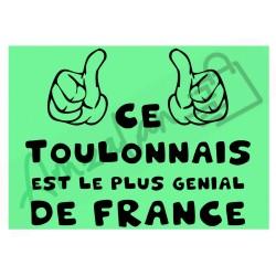 Ce Toulonnais est le + génial de France fond vert homme plastifié idée cadeau anniversaire fête noel neuve emballée