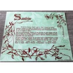 """Signification du prénom """" SANDRINE """" idée cadeau fête des mères grand mères anniversaire noel Neuf"""
