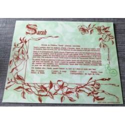 """Signification du prénom """" SARAH """" idée cadeau fête des mères grand mères anniversaire noel Neuf"""