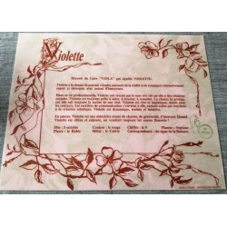 """Signification du prénom """" VIOLETTE """" idée cadeau fête des mères grand mères anniversaire noel Neuf"""