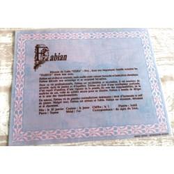 """Signification du prénom """" FABIAN """" idée cadeau original fête des pères grands pères noel neuf"""