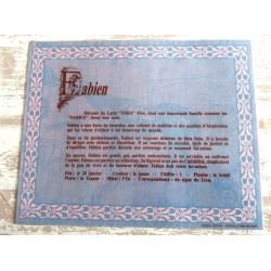 """Signification du prénom """" FABIEN """" idée cadeau original fête des pères grands pères noel neuf"""