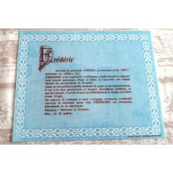 """Signification du prénom """" FRÉDÉRIC """" idée cadeau original fête des pères grands pères noel neuf"""