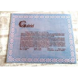 """Signification du prénom """" GABRIEL """" idée cadeau original fête des pères grands pères noel neuf"""