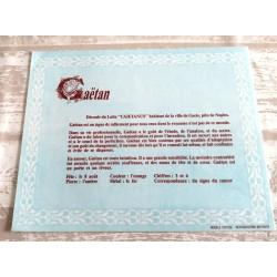 """Signification du prénom """" GAÉTAN V2 """" idée cadeau original fête des pères grands pères noel neuf"""