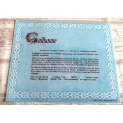 """Signification du prénom """" GUILLAUME """" idée cadeau original fête des pères grands pères noel neuf"""