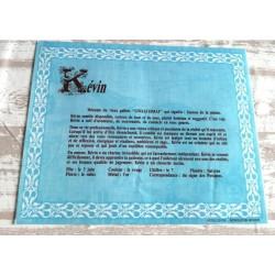 """Signification du prénom """" KEVIN """" idée cadeau original fête des pères grands pères noel neuf"""