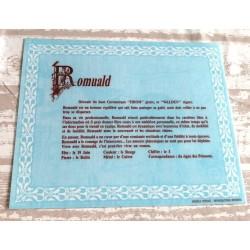 """Signification du prénom """" ROMUALD """" idée cadeau original fête des pères grands pères noel neuf"""
