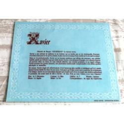 """Signification du prénom """" XAVIER """" idée cadeau original fête des pères grands pères noel neuf"""