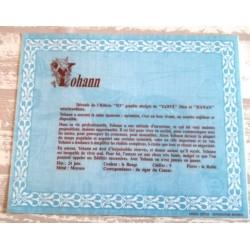 """Signification du prénom """" YOHANN """" idée cadeau original fête des pères grands pères noel neuf"""