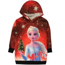 Sweat shirt tunique a capuche fille reine des neiges 2 du 4 ans au 12 ANS idée cadeau anniversaire noel neuf