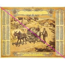 Calendrier de naissance plastifié année 1917 Idée cadeau original anniversaire fête noël neuf