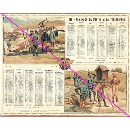 Calendrier de naissance plastifié année 1918 Idée cadeau original anniversaire fête noël neuf